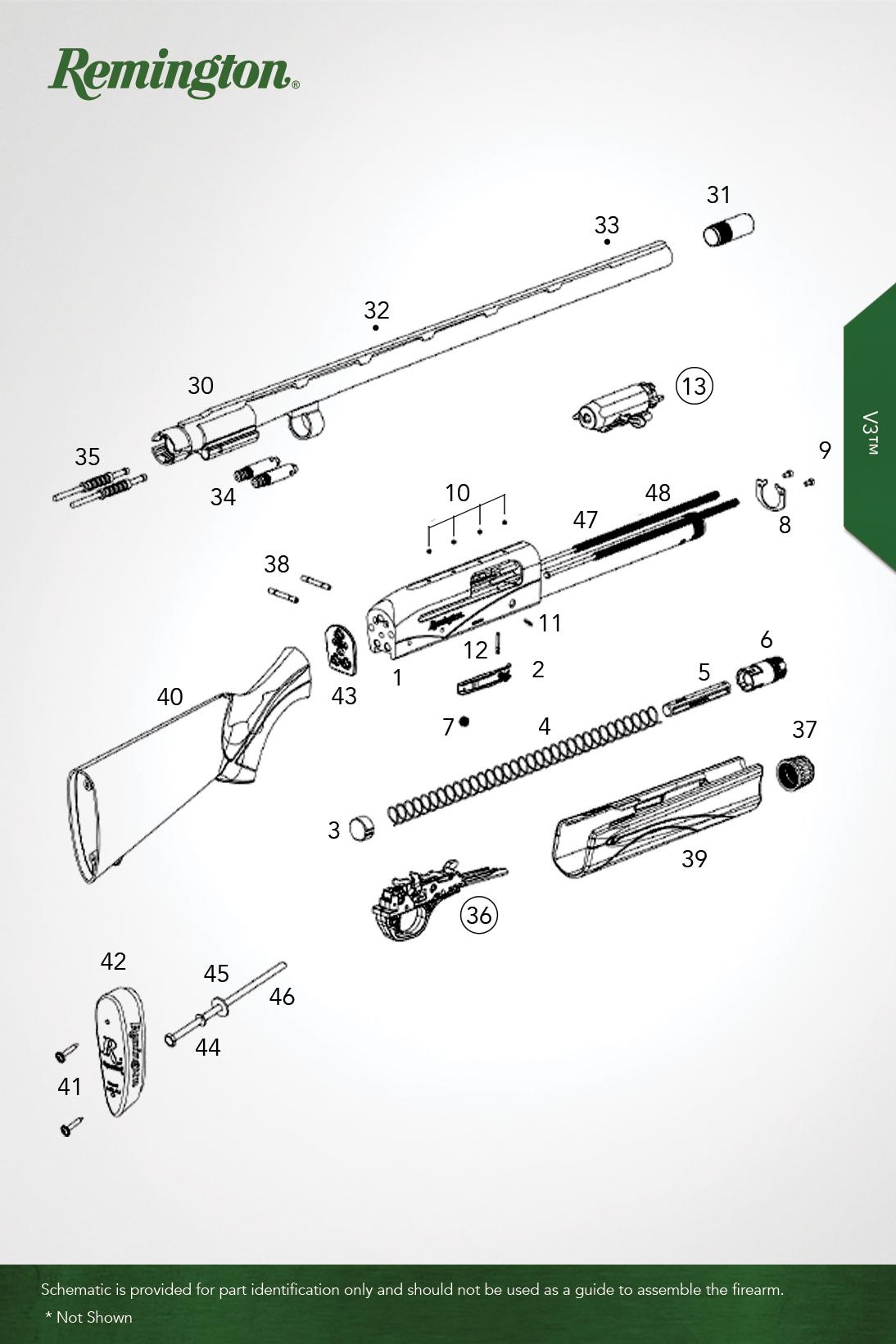 V3™ - Shotguns - Remington® - OEM Parts
