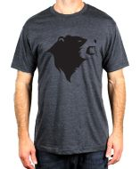 CampTv-350CHH-S : Gravel Bear Head T-Shirt Small - Charcoal Heather
