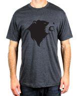 CampTv-350CHH-M : Gravel Bear Head T-Shirt Medium - Charcoal Heather