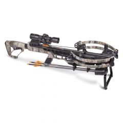 """AXCV200TPK : CP400 Compound Xbow 3x20"""" carbon arrows 3x32mm scope quiver rope cocker rail lube"""
