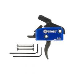 MI-TRIGGER-C : Enhanced AR15 Drop in Curved Trigger 3.5lb Single Stage w/ Anti Walk Pins