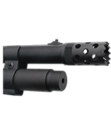 GS21A : Muzzle brake installation, Seamless fitting matching stainless steel finish