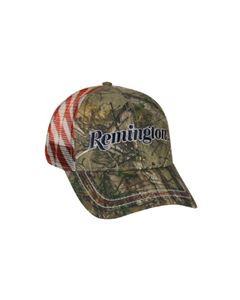 RM46K : Remington® Realtree Xtra® camo with American Flag Meshback Cap