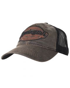 RM17A : Remington Meshback Cap - Brown & Black Patch (Low Crown)