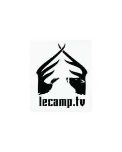 "CS220066 : Sticker Le Camp.tv Die cut 4""x3.5"" Noir"