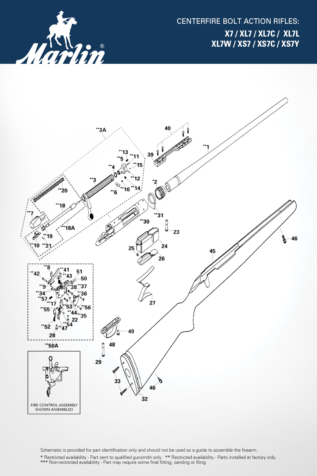 Stock Replacement Parts : Model centerfire rifles marlin replacement parts