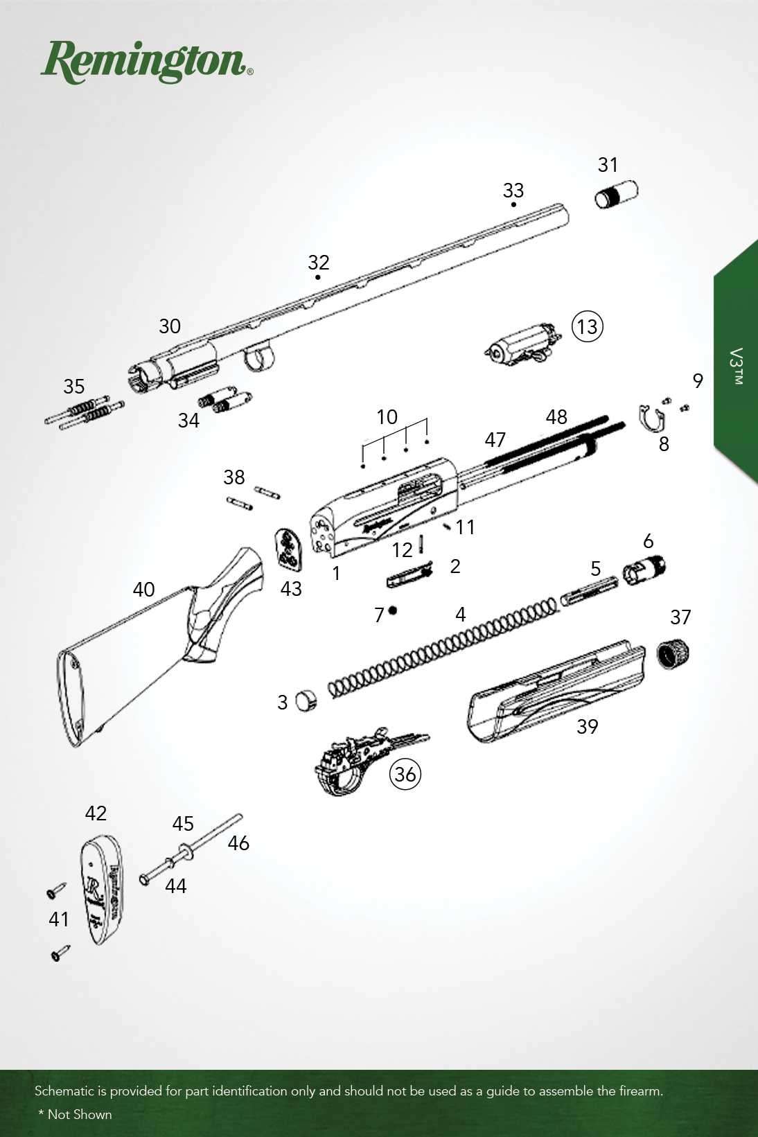 remington v3 shotgun schematic